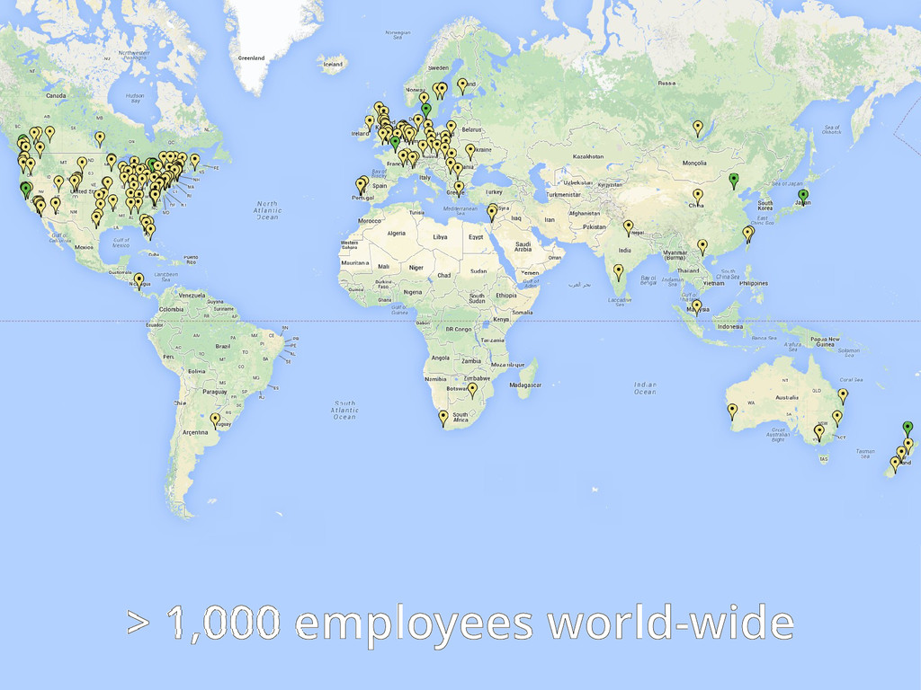 > 1,000 employees world-wide