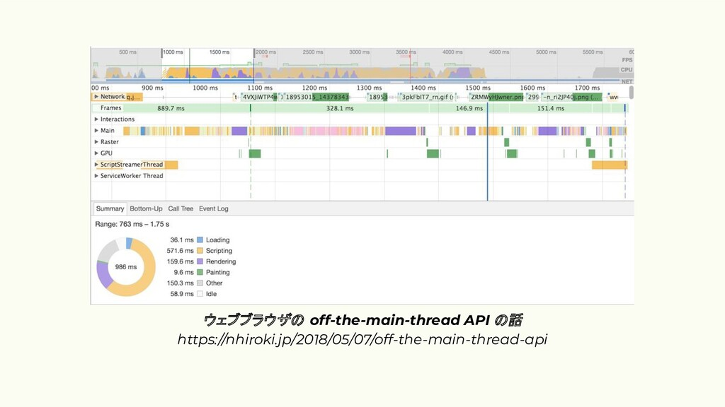 ウェブブラウザ off-the-main-thread API 話 https://nhiro...