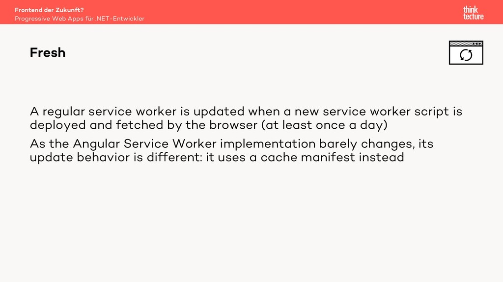 A regular service worker is updated when a new ...