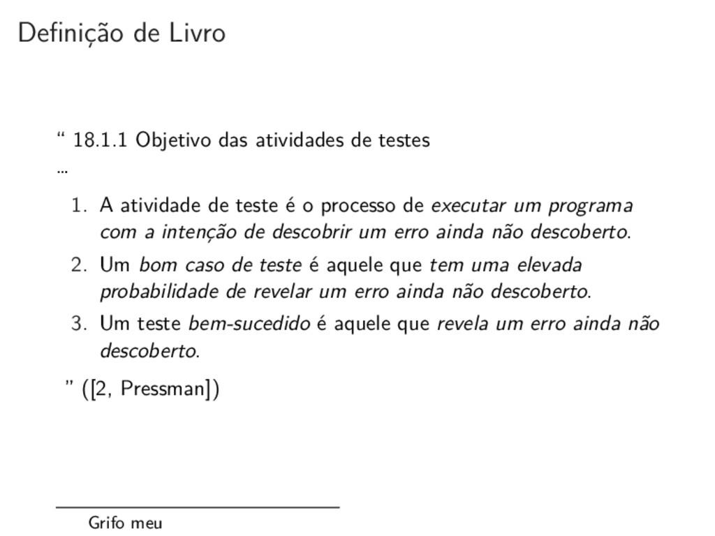 """Definição de Livro """" 18.1.1 Objetivo das ativid..."""