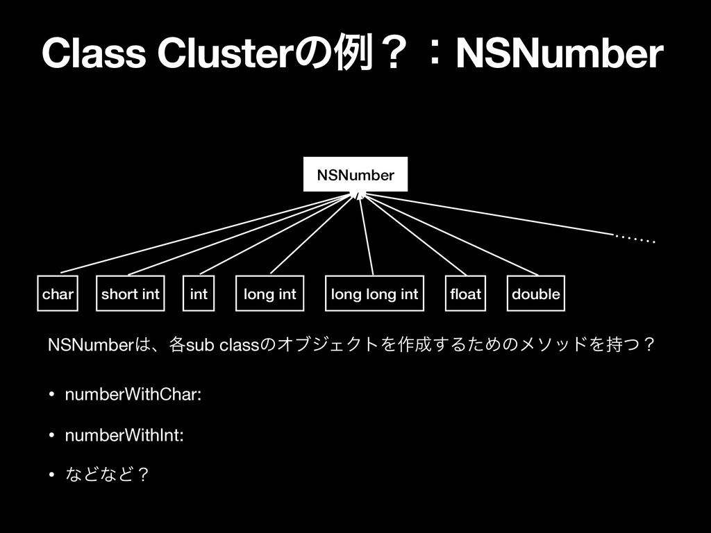 Class ClusterͷྫʁɿNSNumber NSNumber long long in...