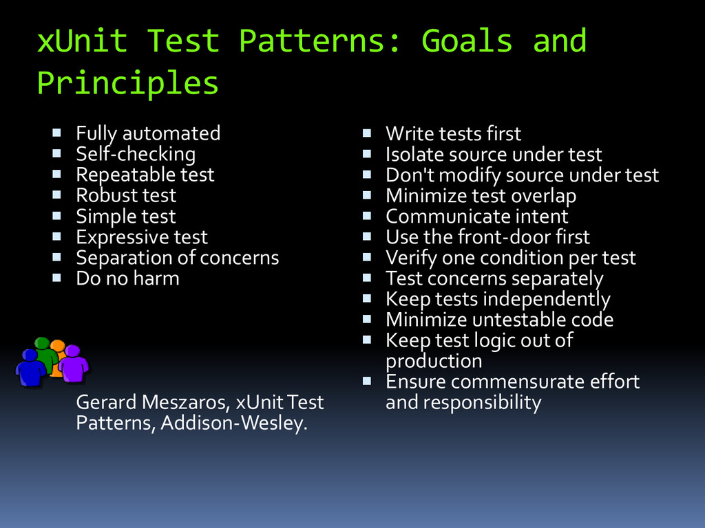 xUnit Test Patterns: Goals and Principles  Ful...