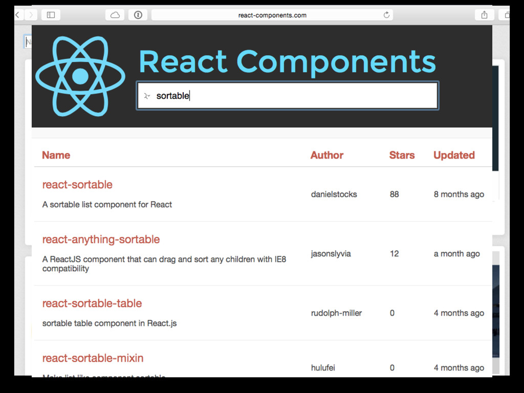 Components directory • React.rock • react-compo...