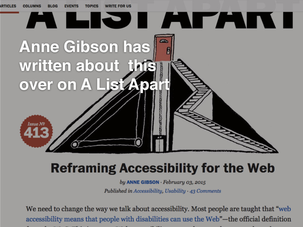 GDS Anne Gibson has written about this over on ...