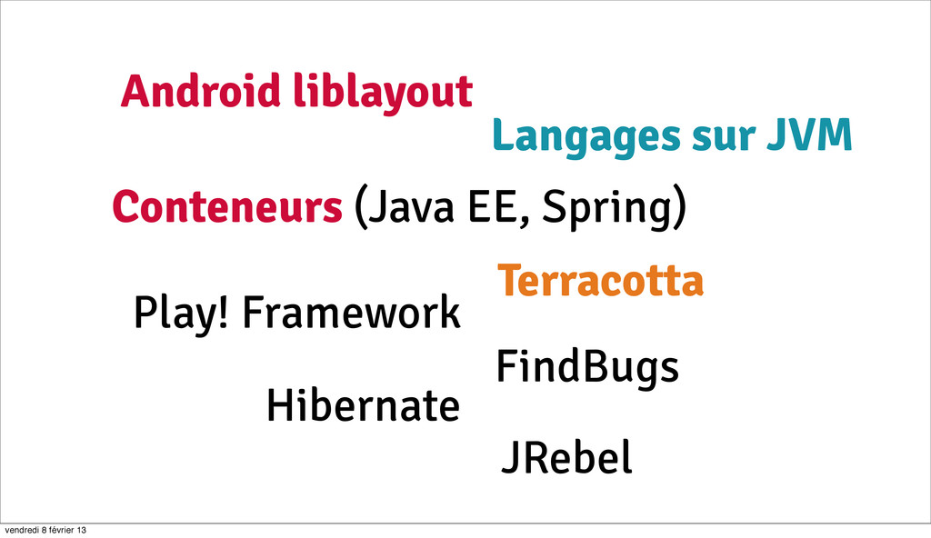 6 Conteneurs (Java EE, Spring) Android liblayou...
