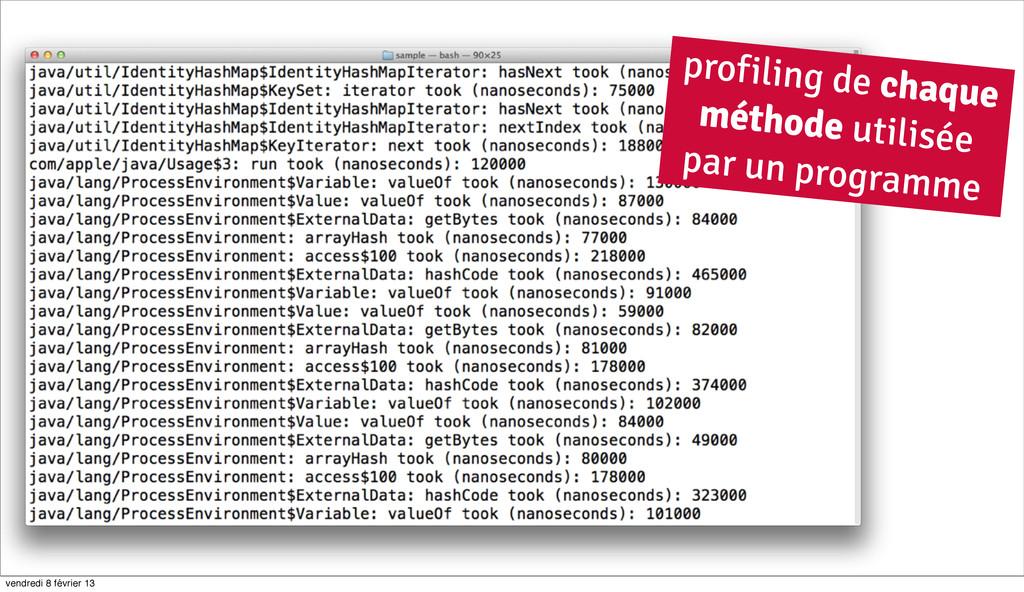 50 profiling de chaque méthode utilisée par un ...