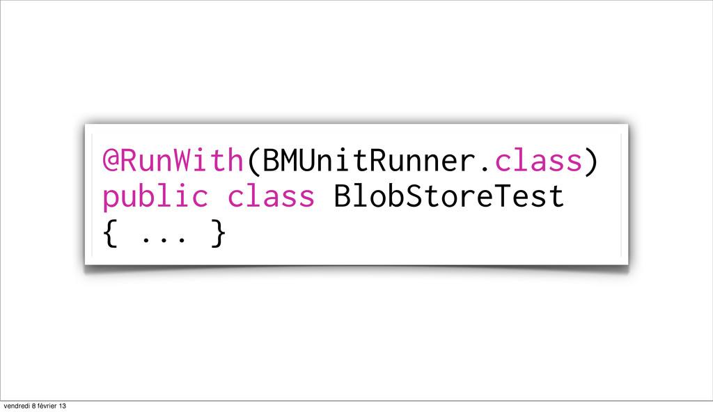 80 @RunWith(BMUnitRunner.class) public class Bl...