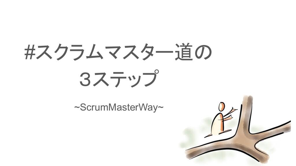 #スクラムマスター道の 3ステップ ~ScrumMasterWay~