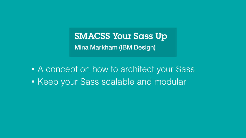 • A concept on how to architect your Sass • Kee...