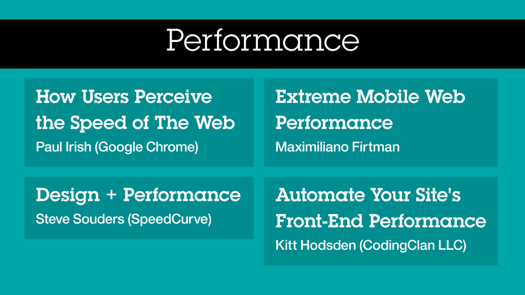 Performance How Users Perceive the Speed of The...