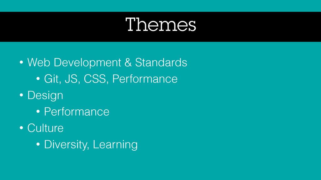 Themes • Web Development & Standards • Git, JS,...