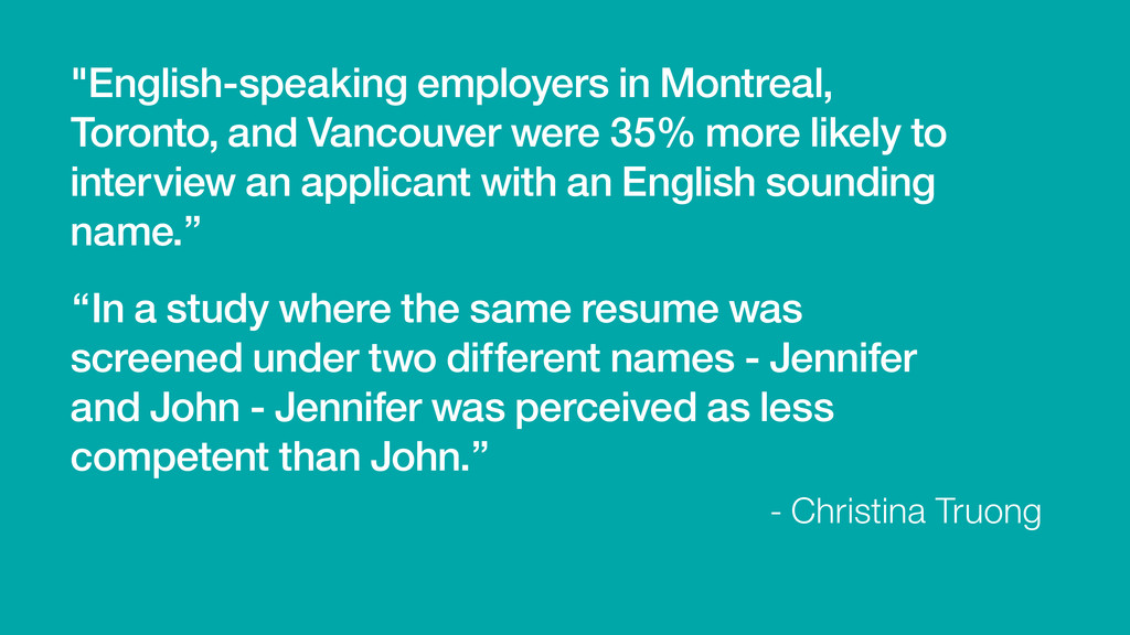 """""""English-speaking employers in Montreal, Toront..."""