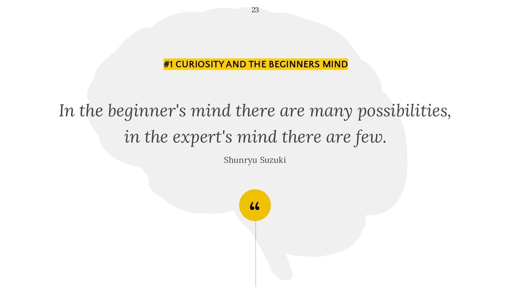 """"""" In the beginner's mind there are many possibi..."""