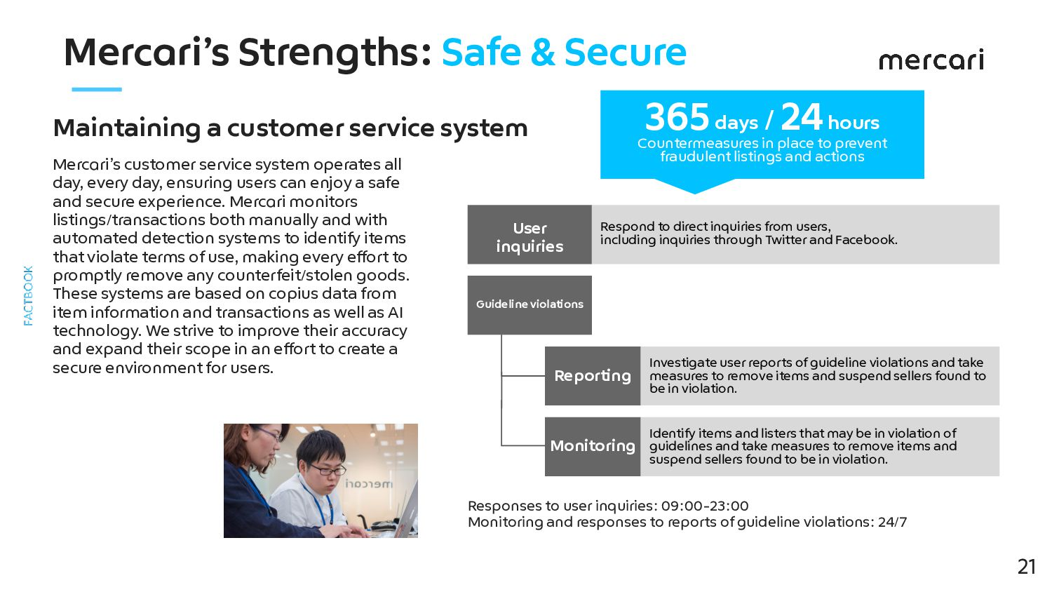 Mercari's Strengths: Safe & Secure Maintaining ...