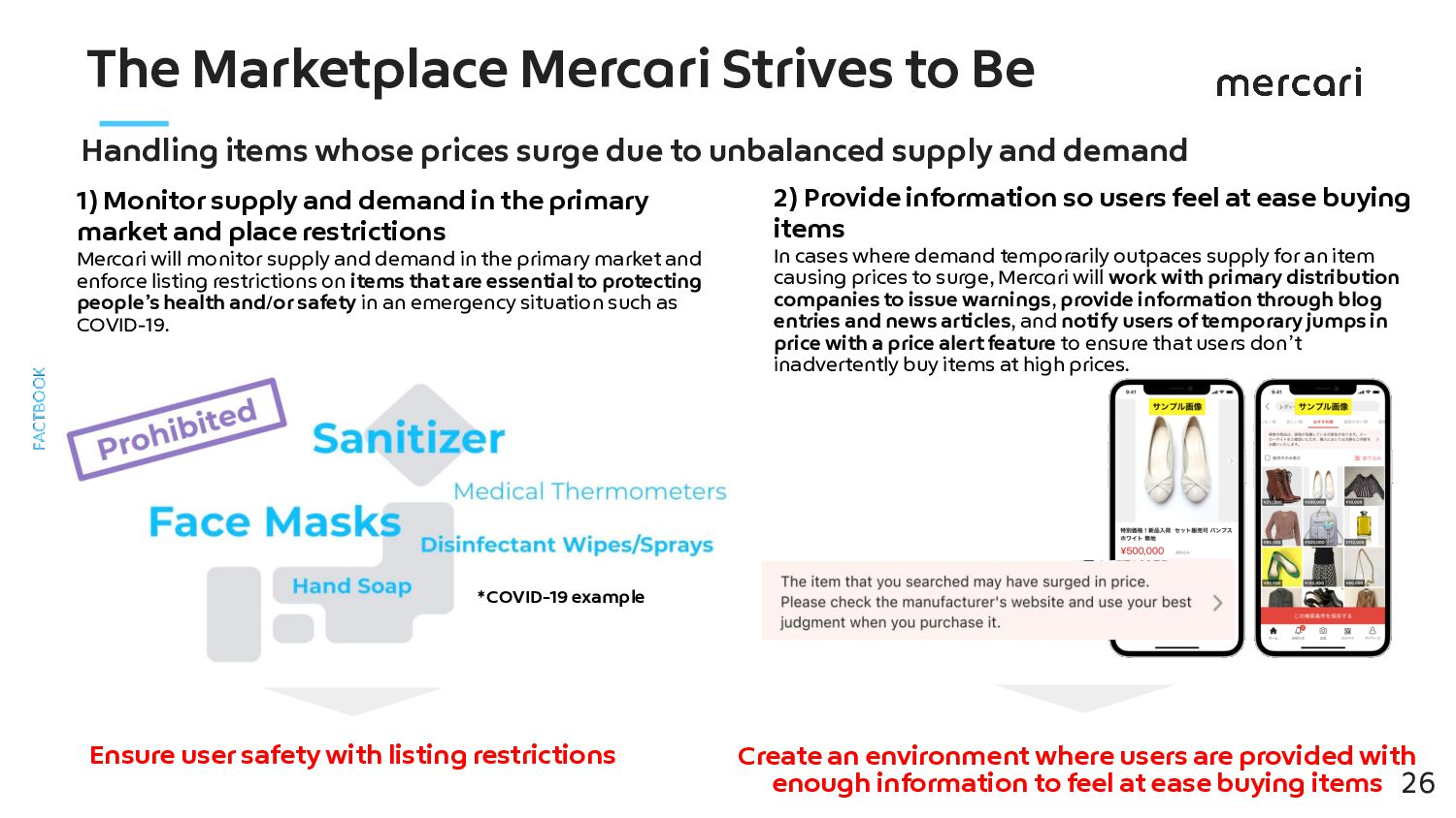 Mercari's Strengths Safe & Secure Cooperating w...