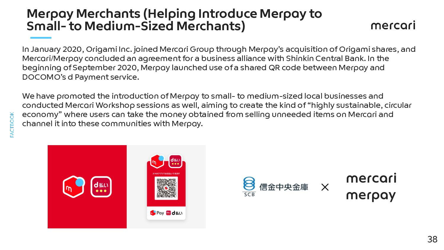Merpay's Users The number of Merpay users1 is 1...