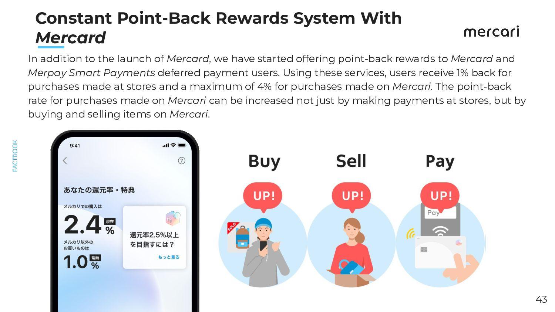 Merpay's Three Focus Areas ● Lump-sum payment: ...