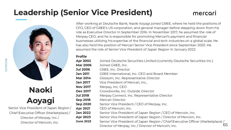 ESG Policy (Materiality) 65 Mercari has identifi...