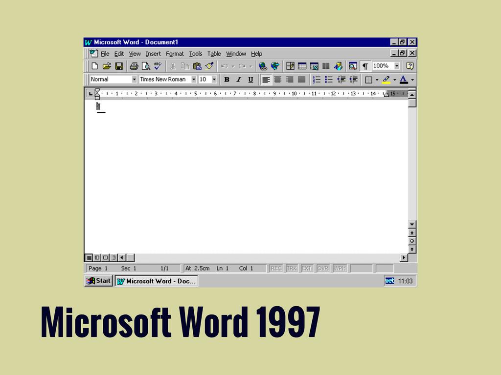 Microsoft Word 1997