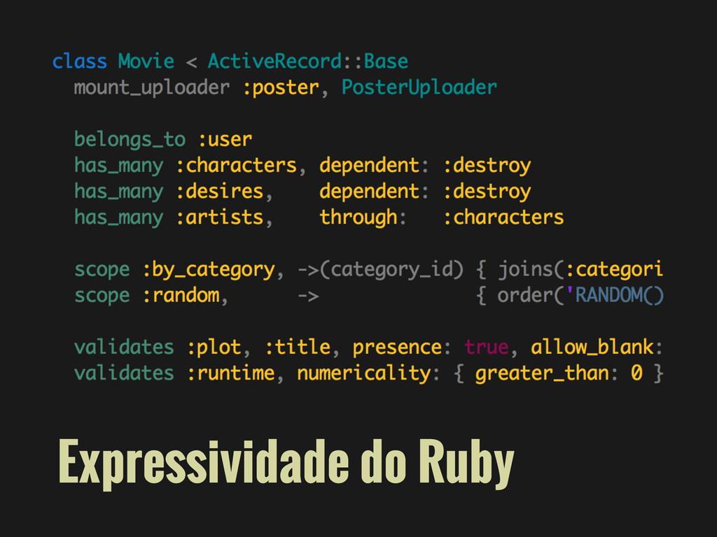 Expressividade do Ruby