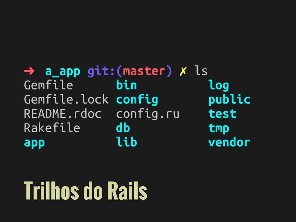 Trilhos do Rails