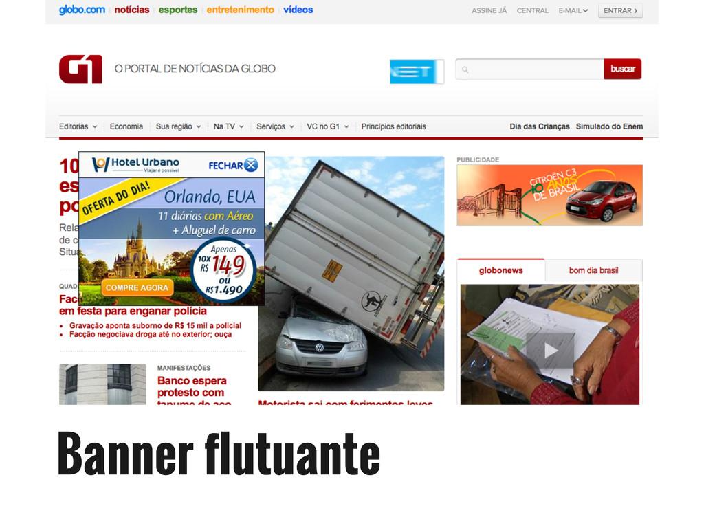 Banner flutuante