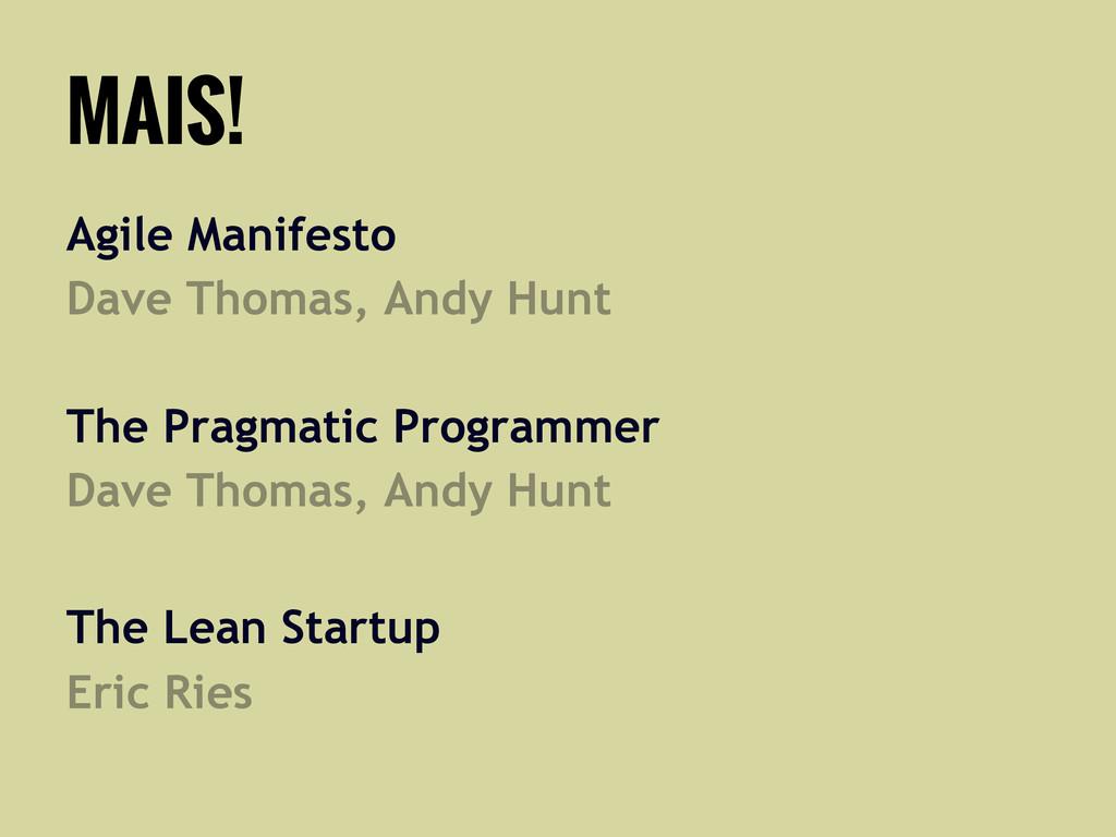 MAIS! Agile Manifesto Dave Thomas, Andy Hunt Th...