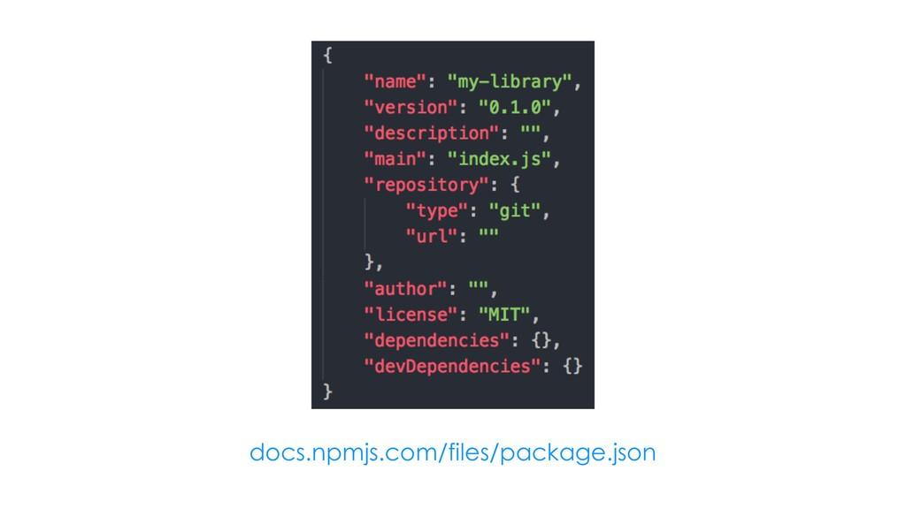 docs.npmjs.com/files/package.json