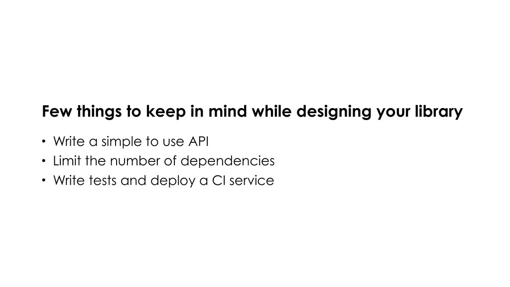 Few things to keep in mind while designing your...