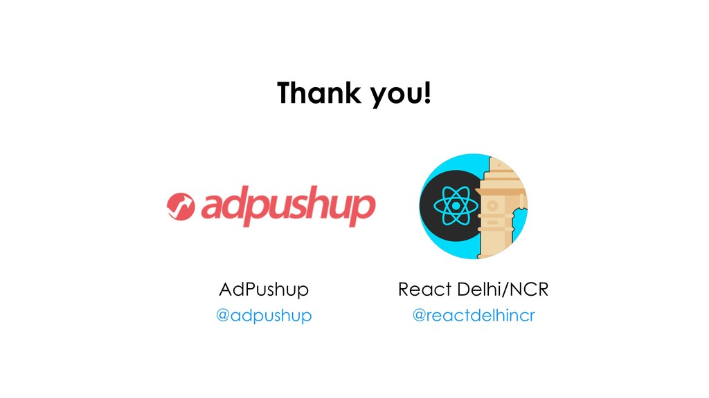 Thank you! React Delhi/NCR @reactdelhincr AdPu...