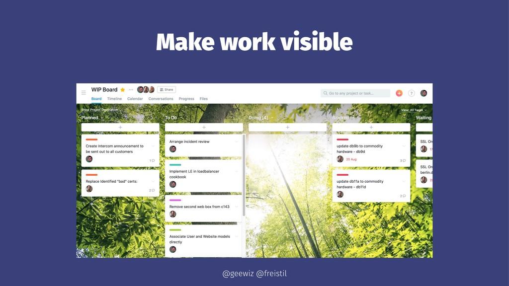 Make work visible @geewiz @freistil