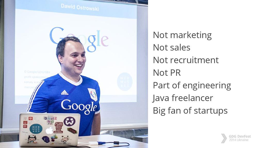 #dfua Not marketing Not sales Not recruitment N...