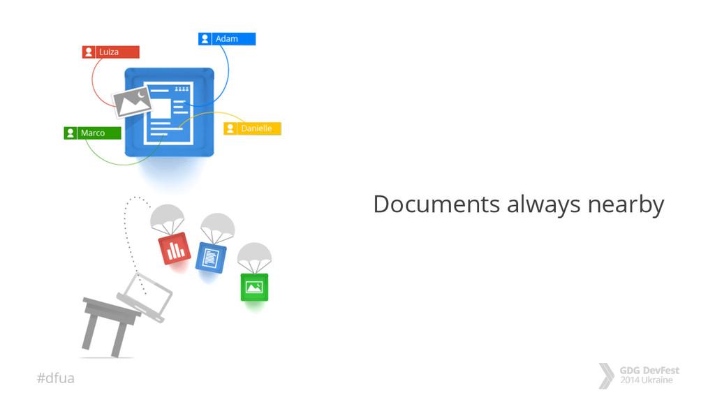#dfua Documents always nearby