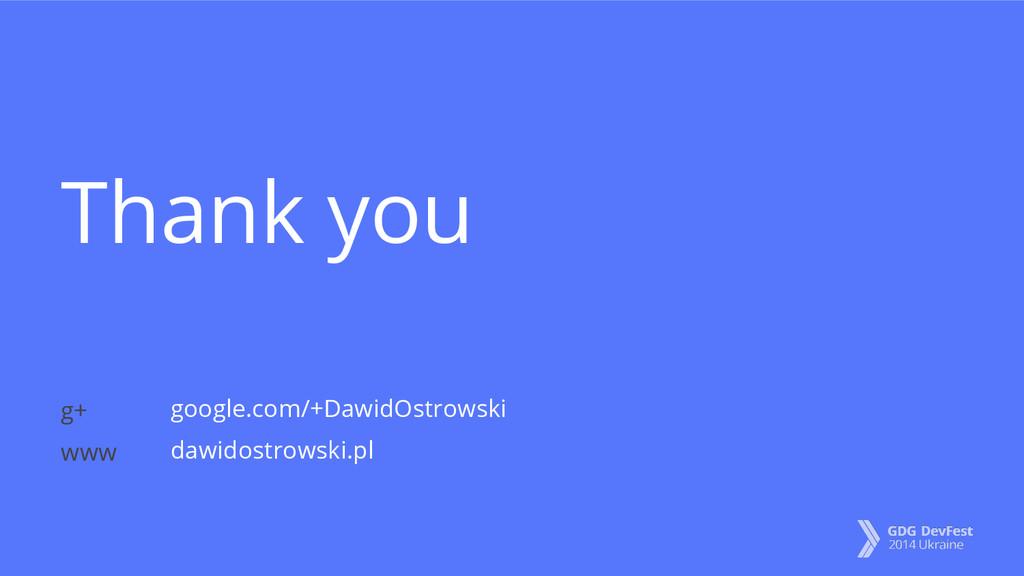 Thank you google.com/+DawidOstrowski dawidostro...