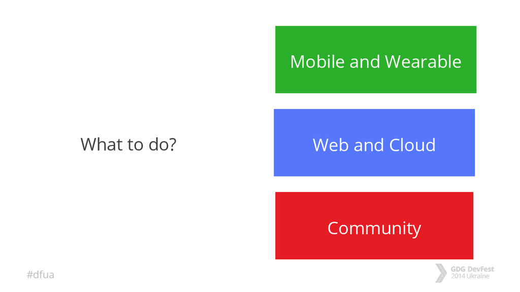 #dfua What to do? Mobile and Wearable Web and C...