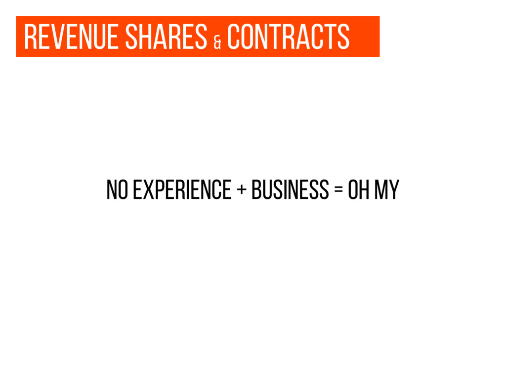 Revenue shares & contracts no experience + busi...