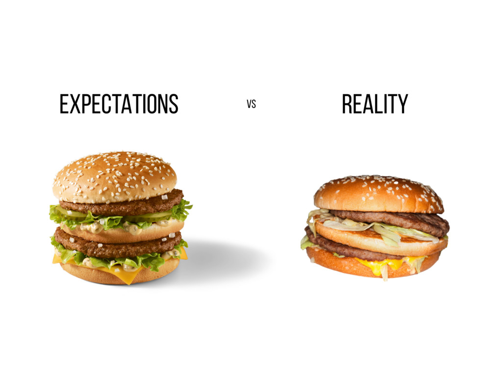 EXPECTATIONS REALITY vs