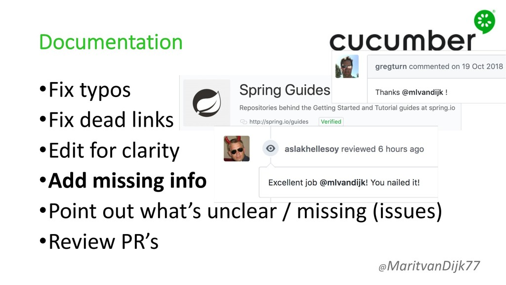 Documentation •Fix typos •Fix dead links •Edit ...