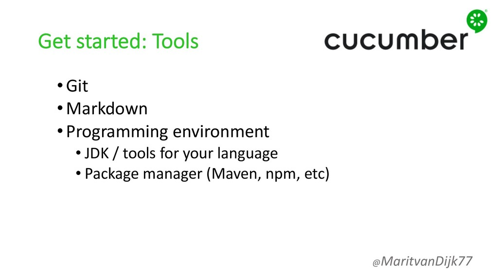 Get started: Tools •Git •Markdown •Programming ...