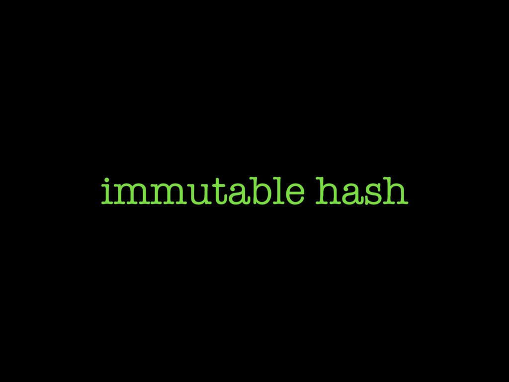 immutable hash