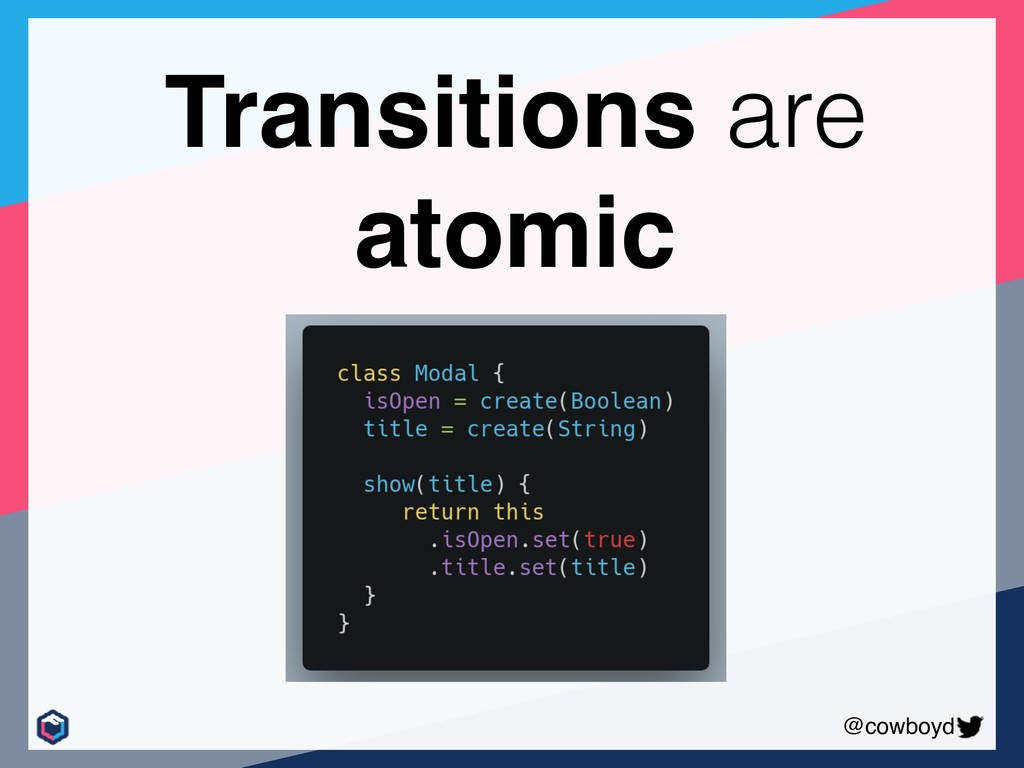 @cowboyd Transitions are atomic