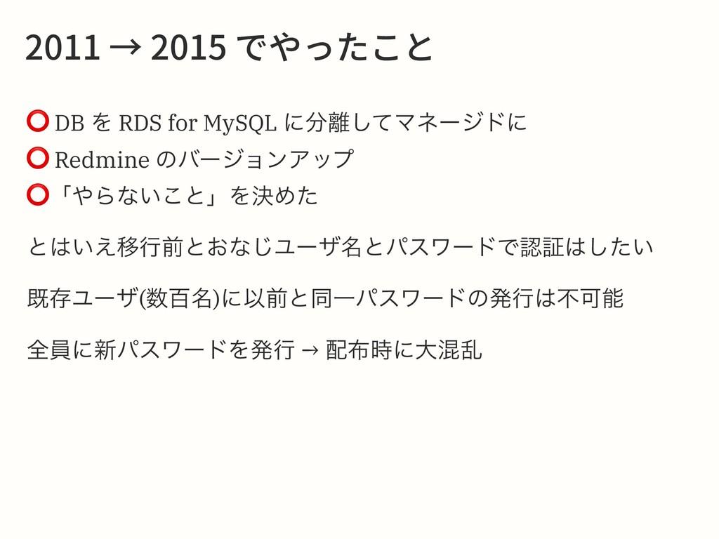 ̔דװֿה ⭕ DB Λ RDS for MySQL ʹͯ͠Ϛω...