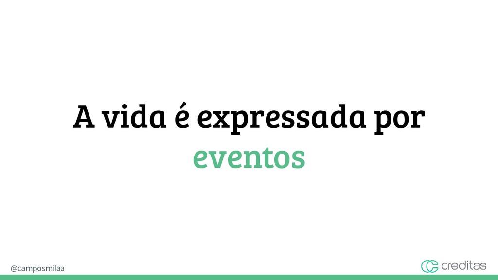 @camposmilaa A vida é expressada por eventos