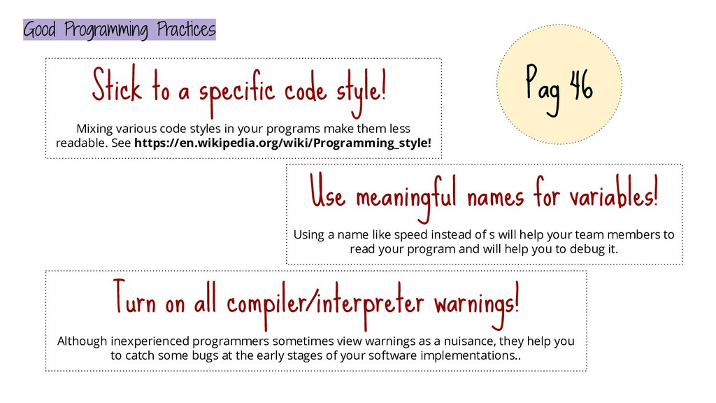 Good Programming Practices Stick to a specific ...