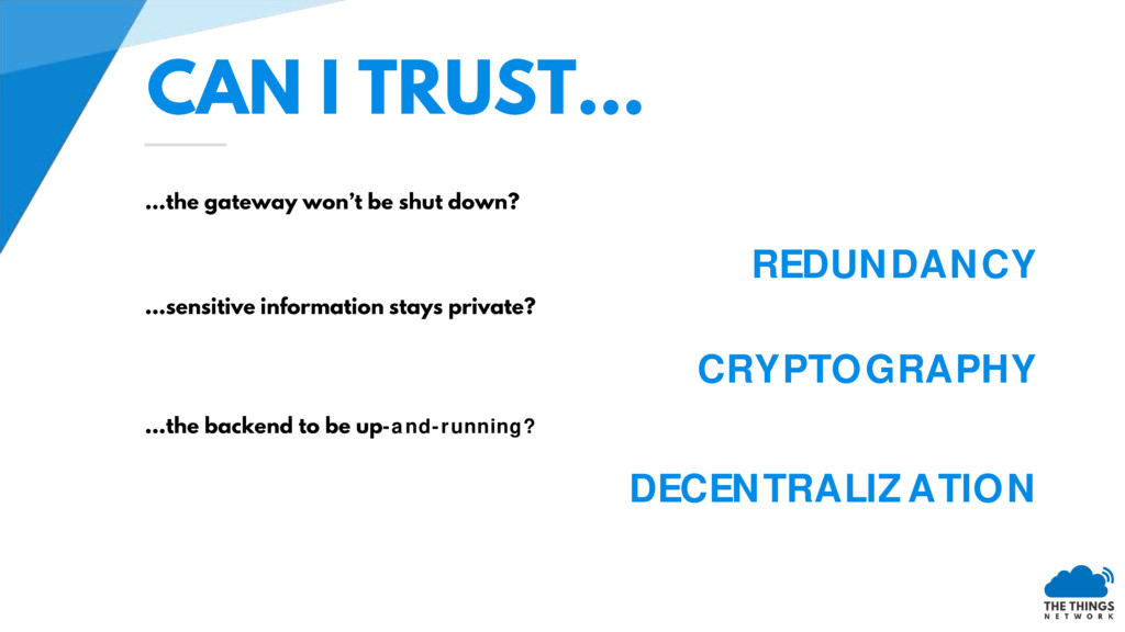 REDUNDANCY CRYPTOGRAPHY -and-running? DECENTRAL...