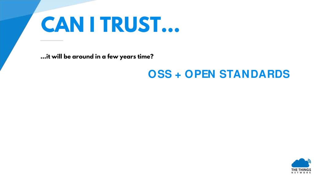 OSS + OPEN STANDARDS