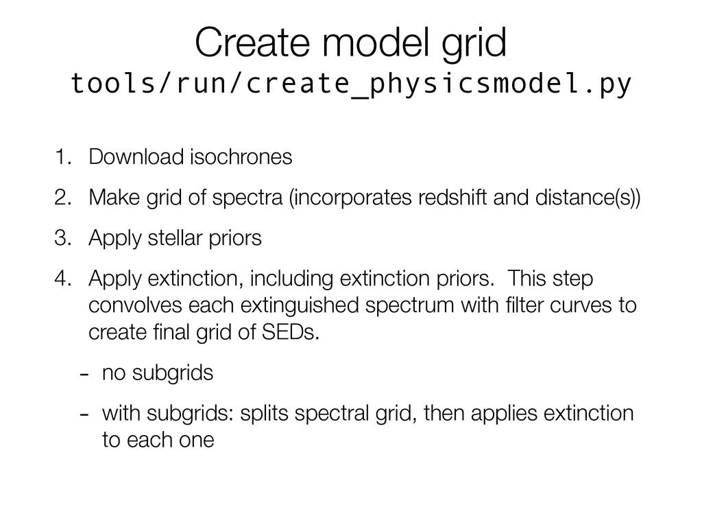 Create model grid tools/run/create_physicsmodel...