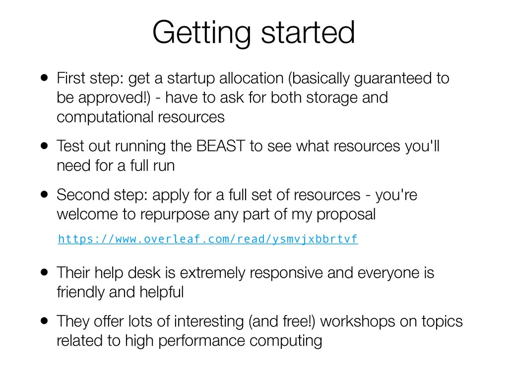 Getting started • First step: get a startup all...