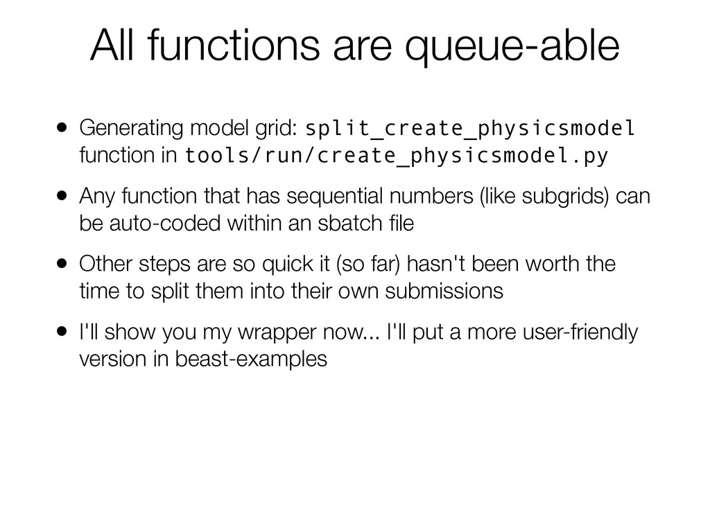 All functions are queue-able • Generating model...