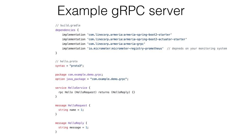 Example gRPC server